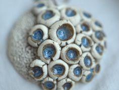 $34 Porcelain Pendant with Blue Glaze