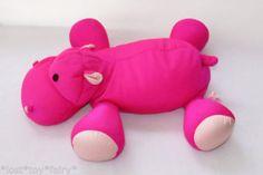 21-Moshi-Microbead-Pillow-Dark-Hot-Pink-Hippo-Plush-Spandex-Stuffed-Animal-Toy