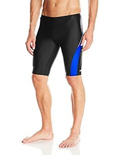 Speedo Mens Taper Splice Jammer  PowerFLEX Eco Black  Sapphire 22  Sunlotion *** Clicking on the image will lead you to find similar product