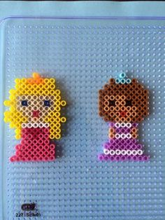 Aurora and Sofia perler fuse beads by Amy Childs