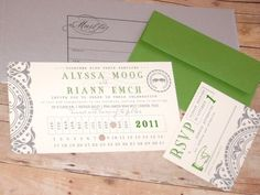 wedding invites ticket stubs | Punch Card Ticket Wedding Invitation by LetterBoxInk on Etsy, $4.50