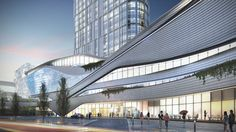 Image 3 of 34 from gallery of Zhongxun Times & 10 Design. Courtesy of 10 Design Mall Facade, Retail Facade, Futuristic Architecture, Contemporary Architecture, Architecture Design, Classical Architecture, Mix Use Building, Building Design, Commercial Complex