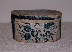 Blue Wallpaper Box | Kurt G. Kilty Antiques