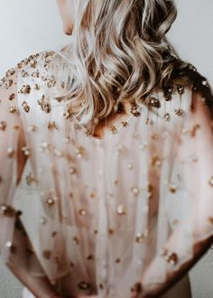 Golden, pearly embellishment concentrates along the neckline of this stunning sheer cape. Crystal Wedding Dresses, Brewery Wedding, Bhldn Wedding, Aisle Style, Baltimore Wedding, Terani Couture, Washington Dc Wedding, Spring Summer Fashion, Stylists