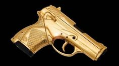 Limited Edition Gold Plated Beretta Gun to mark 50 years of James Bond - Pursuitist Redskins Cheerleaders, Fire Powers, Cool Guns, Airsoft Guns, Concealed Carry, War Machine, James Bond, 50th Anniversary, Firearms
