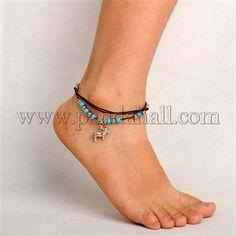 Tibetan Silver Anklet AJEW-PJF001-4