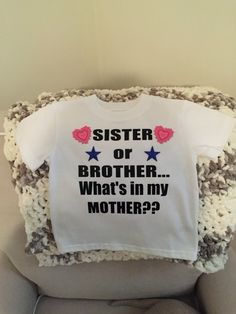 Gender Reveal tshirt for sibling