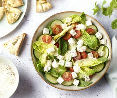 Feta, Middle Eastern Recipes, Cobb Salad, Catering, Vegetarian, Lunch, Spreads, Dressings, Lebanon