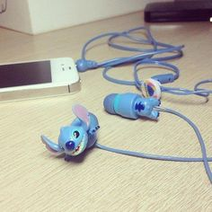 Adorable. Stitch earbud headphones!!!