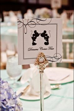 Mickey & Minnie Mouse inspired wedding