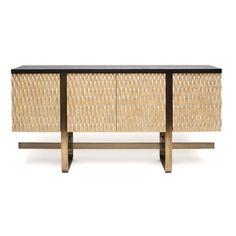 Ecos Sideboard  MidCentury  Modern, Metal, Resin  Composite, Wood, Sideboard by Jean De Merry