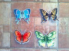Vyšívané motýle od Maja66   Motýle, Vyšívanie   Artmama.sk