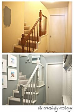 stairwell and mudroom revamp (befor and after) The Creativity Exchange