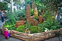 The popular Holiday Train Show includes 15 G-scale trains on a layout of NYC landmarks
