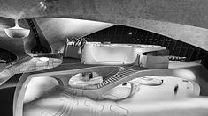 Interior of Eero Saarinen's TWA Terminal at Idlewild Airport, New York, 1962. Photograph by Balthazar Korab,