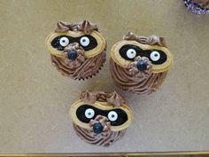 raccoon cupcakes, raccoon birthday party