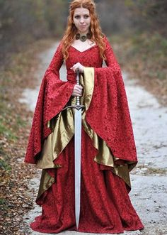 Game of Thrones inpsired dress/Cersei dress/Celtic dress/Medieval dress/Medieval clothing