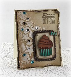 Birthday card by Julee Tilman using Small Packages from Verve.  #vervestamps