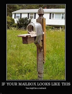 Redneck mailbox by ruralinfo.net, via Flickr