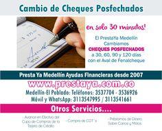 Prestaya Medellín: Prestamos Dinero en Medellin - Préstamos de dinero sobre Carros y sobre motos - Avance en efectivo del Cupo de Compras de Tu Tarjeta de Crédito - Cambio de Cheques Posfechados - Compra de CDT´s - Cambio de Cupo Cadivi - Cencoex Viajero por Efectivo Para mas información ingresa ahora mismo a nuestro website: http://www.prestaya.com.co, tel 3537704 - 3536926 Movil : 3113547995 - 3113541661 Medellin