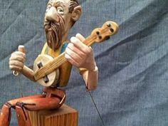 banjo player automaton - YouTube