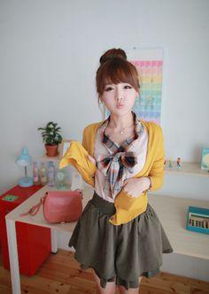 cute outfit, K Fashion,  (≧∇≦)/ casual, cute outfit, Cute Korean Fashion, korea, Korean, seoul, kfashion, kpop fashion, girl's wear, ladies' wear, pretty, kawaii just casual!