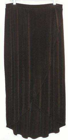 """Chico's 2/large Travelers Wrap Skirt. Free shipping and guaranteed authenticity on Chico's 2/large Travelers Wrap SkirtElegant skirt from Chico's in """"Hot Fudge"""" (dark br..."""