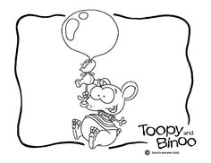 toopy & binoo balloons instead of bubble, could do big balloon & write on it Cartoon Coloring Pages, Coloring Book Pages, Coloring Sheets, 2nd Birthday, Birthday Parties, Birthday Ideas, Party Themes, Theme Ideas, Party Ideas