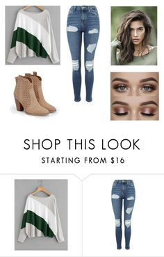 """Ever Green"" by cclevie ❤ liked on Polyvore featuring Topshop and JustFab"