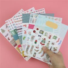 >> Click to Buy << 6 Pcs/lot, Direct Selling New Iconic Second Season Colorful Geometric Animal Diary Toy Stickers #Affiliate