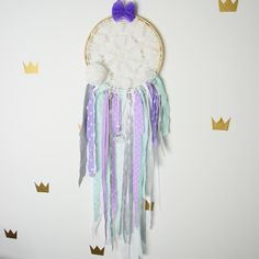 Dream catcher Kids Teepee Decoration Wall art dreamcatcher wall hanging mobile- Lavender Dream by MamaPotrafi on Etsy