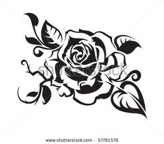 Abstract Rose Stock Vector 57781576 : Shutterstock