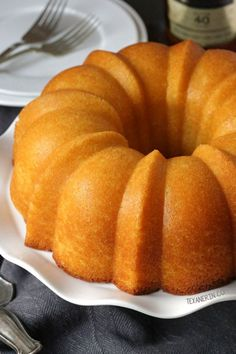 This rum cake is made completely from scratch - no cake or pudding mix - and is even more delicious! Can be made with all-purpose flour or whole wheat.