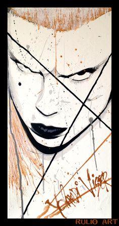 // RULIO ART  Yolandi Visser [ DIE ANTWOORD ] ------------- Follow My ART on  FB: Rulio Art ------------- #yolandi #visser #die #antwoord #rulioart #rulio #paint #ink