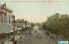 Opelika postcard post card - South Railroad Street, Opelika, AL