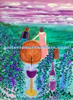 """ wine day "" acrylic canvas 12x16 "" $ 4,500.00"