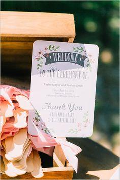 cute wedding program fans @weddingchicks