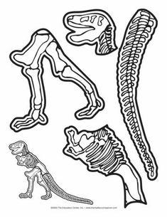 Dinosaur Skeleton, Lesson Plans - The Mailbox Dinosaur Worksheets, Dinosaur Activities, Preschool Activities, Preschool Prep, Vocabulary Activities, Dinosaur Skeleton, Dinosaur Bones, Dinosaur Fossils, Dinosaur Projects
