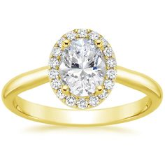 18K Yellow Gold Fancy Halo Diamond Ring from Brilliant Earth