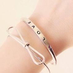 Love silver bracelet 2016