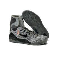 2014 Nike 630847-003 Kobe IX Elite Detail Base Grey Black shoes
