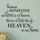 Found it at Wayfair - A Little Bit Of Heaven In Our Home Wall Decal