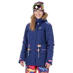 Veste ski may blue camo femme