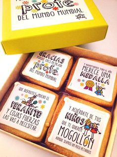 Galletitas para hacer la pelota a los profes #ilovechuches Party In A Box, Printable Wall Art, Teacher Gifts, Balloons, Cookies, Sweet, Projects, Food, Diy