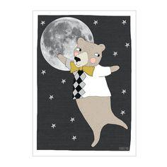 Print . Moonlight Bear - A3