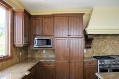kitchen designs photo gallery rustic | Rustic Alder Pantry | W.L. Rubottom Cabinets Co.