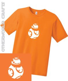 BB8 Mens Adult T-Shirt The Force Awakens Star by OtherWorldCrafts