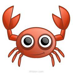 Cute cartoon crab made from circles.