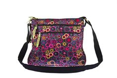 2015 Bewitched Circle Messenger Bag in Black £32.00 (inc VAT) Product code: 1258 Introducing the Circle Oilcloth Messenger Bag from Bewitched Accessories. Our best selling messenger bag shapes, now in this fun and funky print.  Two zipped pockets on the outside, a phone pocket and one zipped pocket on the inside. With one long, adjustable shoulder strap. www.melburygallery.co.uk/shop/bags-and-purses/ xx