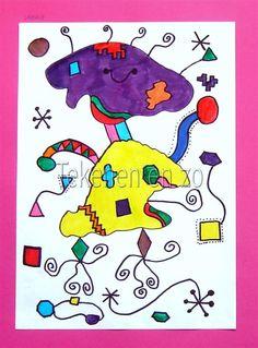 Tekenen en zo: In de stijl van Miró